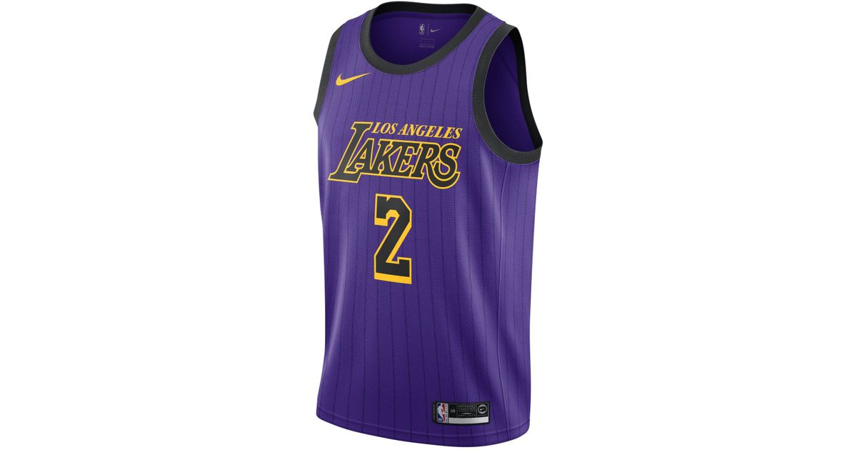 Nike Lonzo Ball City Edition Swingman (los Angeles Lakers) Nba Connected  Jersey in Purple for Men - Lyst d2172e4bc
