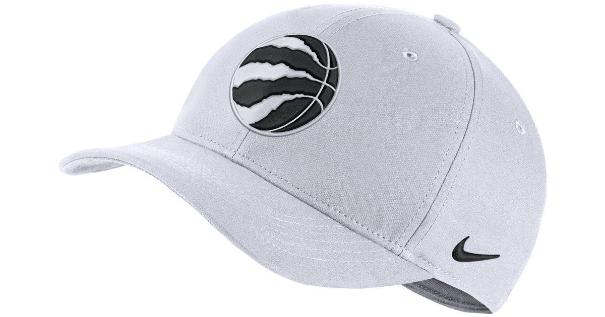a733660250f03 Nike Toronto Raptors City Edition Aerobill Classic99 Nba Hat in Black - Lyst