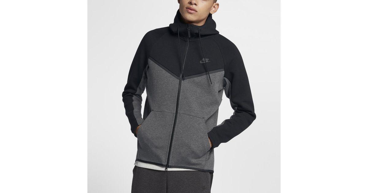 75301506840d Lyst - Nike Sportswear Tech Fleece Windrunner Men s Full-zip Hoodie in  Black for Men