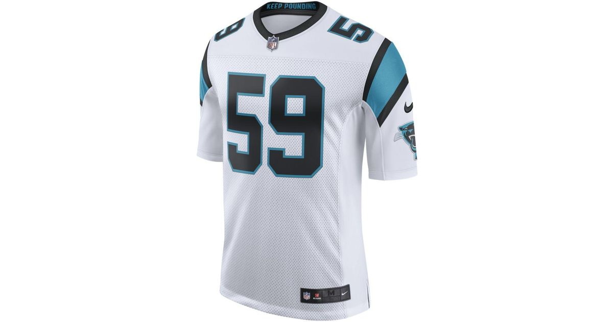 separation shoes 7b04a 86fcb Nike - White Nfl Carolina Panthers Limited Jersey (luke Kuechly) Football  Jersey for Men - Lyst