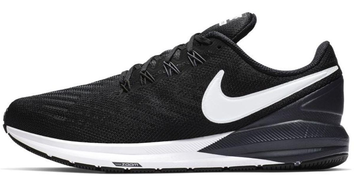 Nike Black Air Zoom Structure 22 Running Shoe for Men Lyst