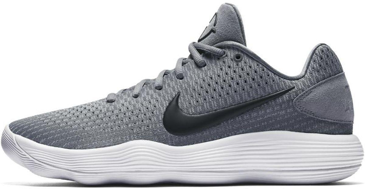 500119d0e28d Nike React Hyperdunk 2017 Low Men s Basketball Shoe in Gray for Men - Lyst