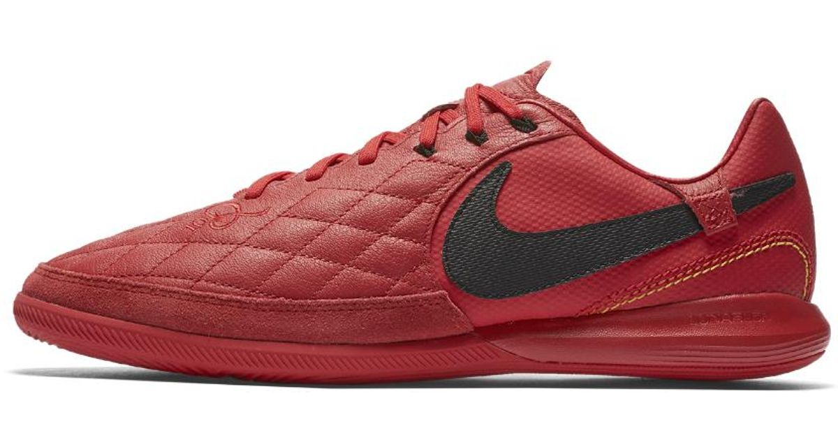 cheap for discount 3a890 0245e Nike Tiempox Lunar Legend Vii Pro 10r Indoor court Soccer Shoe in Red for  Men - Lyst