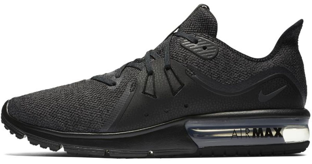 54968dae7f Nike Air Max Sequent 3 (black/anthracite) Shoes in Black for Men - Save 46%  - Lyst