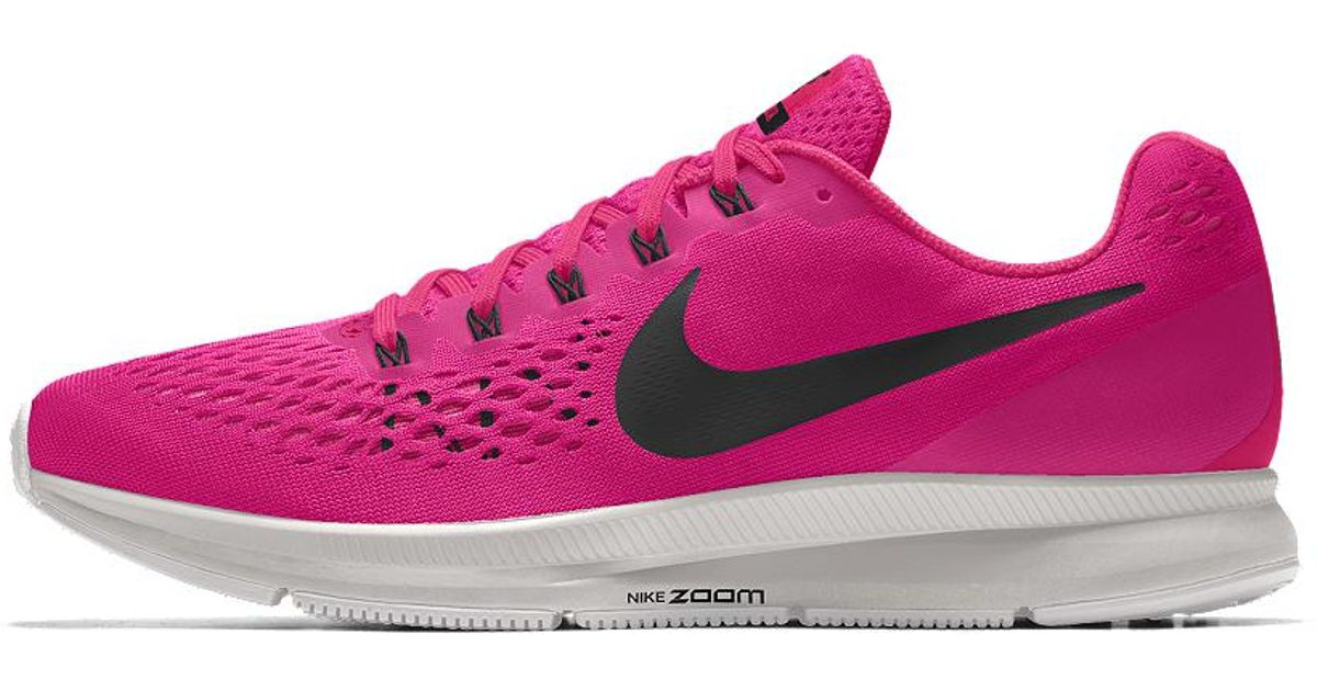 a4debefc2fec ... authentic lyst nike air zoom pegasus 34 id womens running shoe in pink  50e8e cd06c