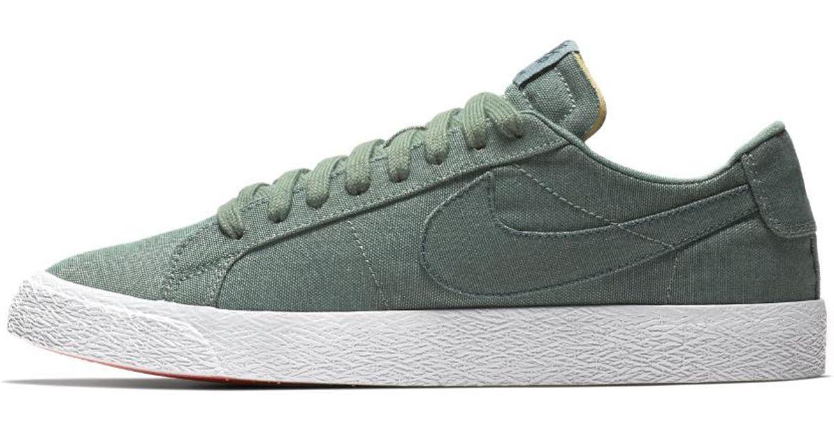 fdaf590c05c234 Lyst - Nike Sb Zoom Blazer Low Canvas Deconstructed Men s Skateboarding Shoe  in Green for Men - Save 13%