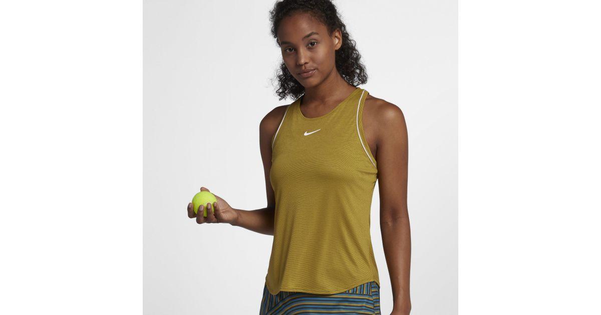 29e695b718db Nike Court Dri-fit Tennis Tank in Green - Lyst