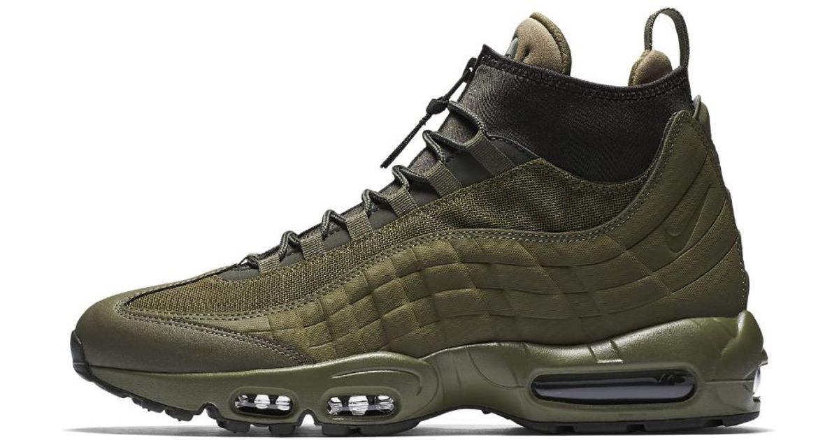 official photos e968d 2fb6f Lyst - Nike Air Max 95 Sneakerboot Mens Boot in Green for Me
