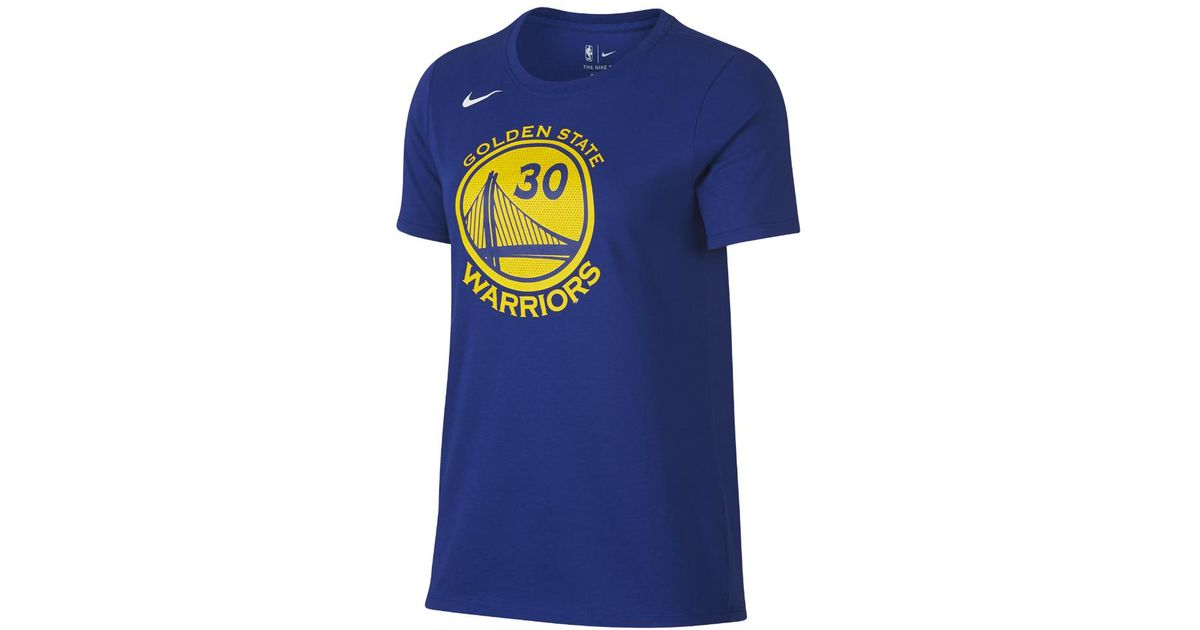 pretty nice a7616 9c617 Lyst - Nike Stephen Curry Golden State Warriors Dri-fit Women s Nba T-shirt  in Blue