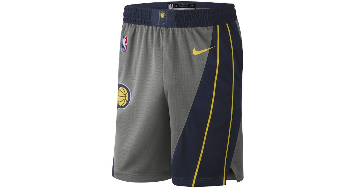 Nike Indiana Pacers City Edition Swingman Nba Shorts in Gray for Men - Lyst b450038bd