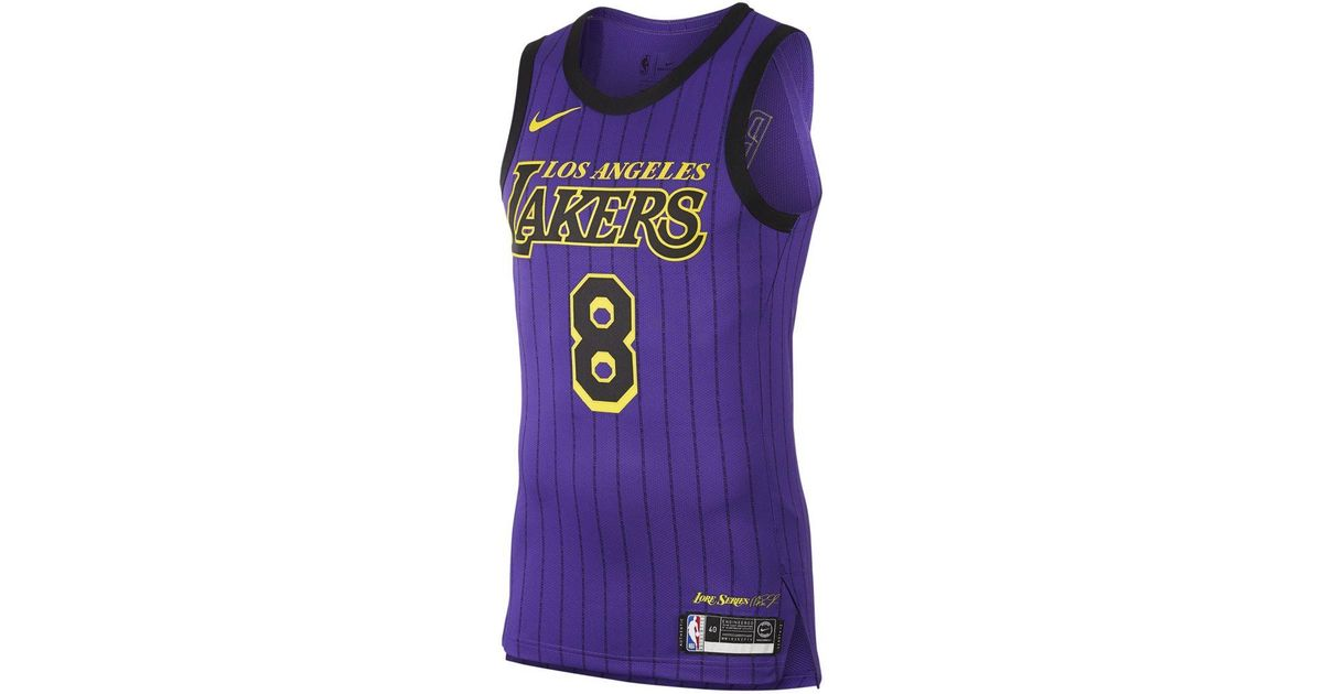 new product 024fd 51839 Nike - Purple Kobe Bryant City Edition Authentic (los Angeles Lakers) Mens  Nba Connected Jersey for Men - Lyst