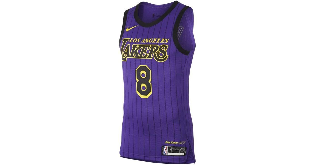 new product b85a8 dcaff Nike - Purple Kobe Bryant City Edition Authentic (los Angeles Lakers) Mens  Nba Connected Jersey for Men - Lyst