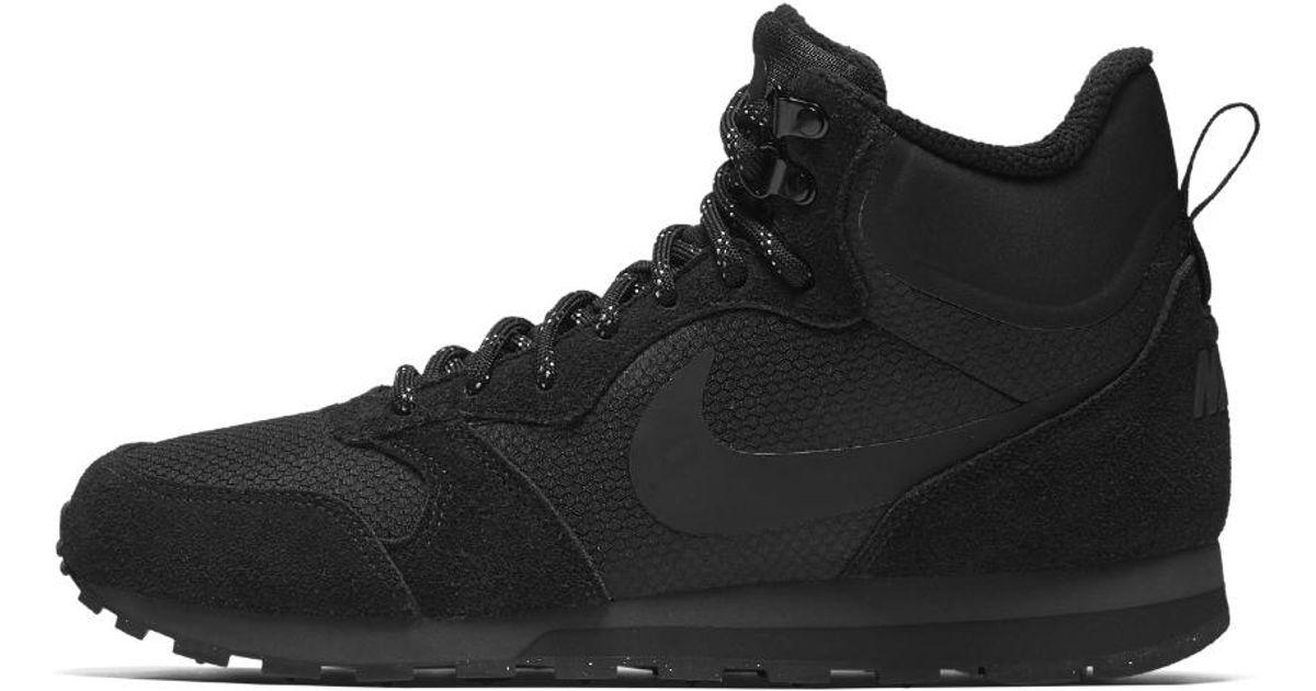 7ced144454f60 Lyst - Nike Md Runner 2 Mid Premium Men s Shoe in Black for Men
