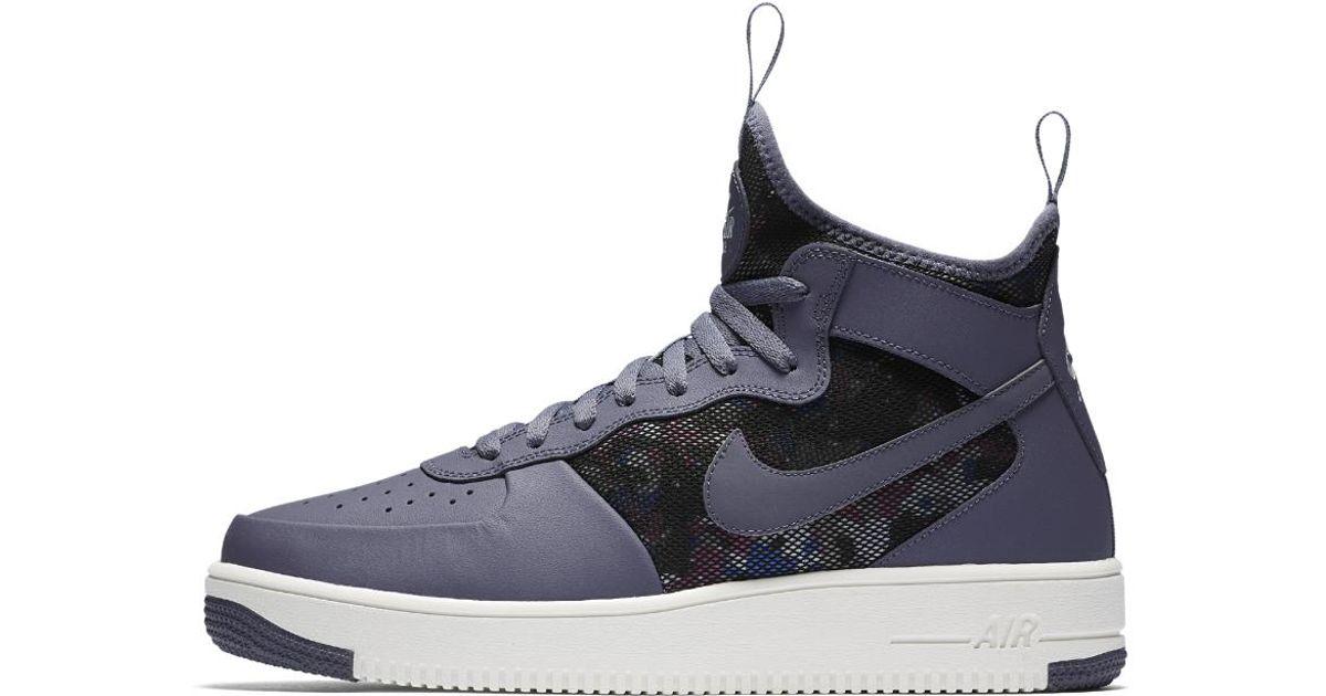 58c84889782eb8 Lyst - Nike Air Force 1 Ultraforce Mid Men s Shoe in Blue for Men
