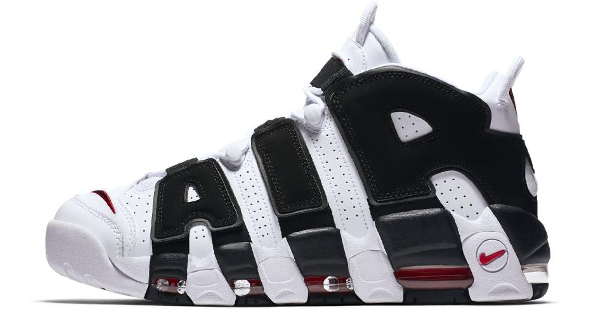 ... coupon lyst nike air more uptempo mens shoe in black for men 1a055 10684 b7d4fed6c