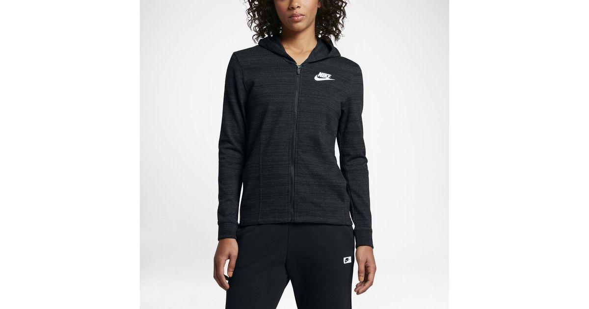 6ab8279c Nike Sportswear Advance 15 Women's Knit Jacket in Black - Lyst