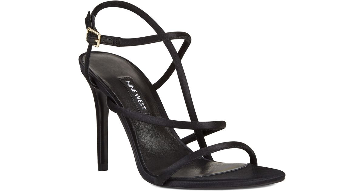 7bca1a3392a5 Lyst - Nine West Mericia Strappy Sandals in Black