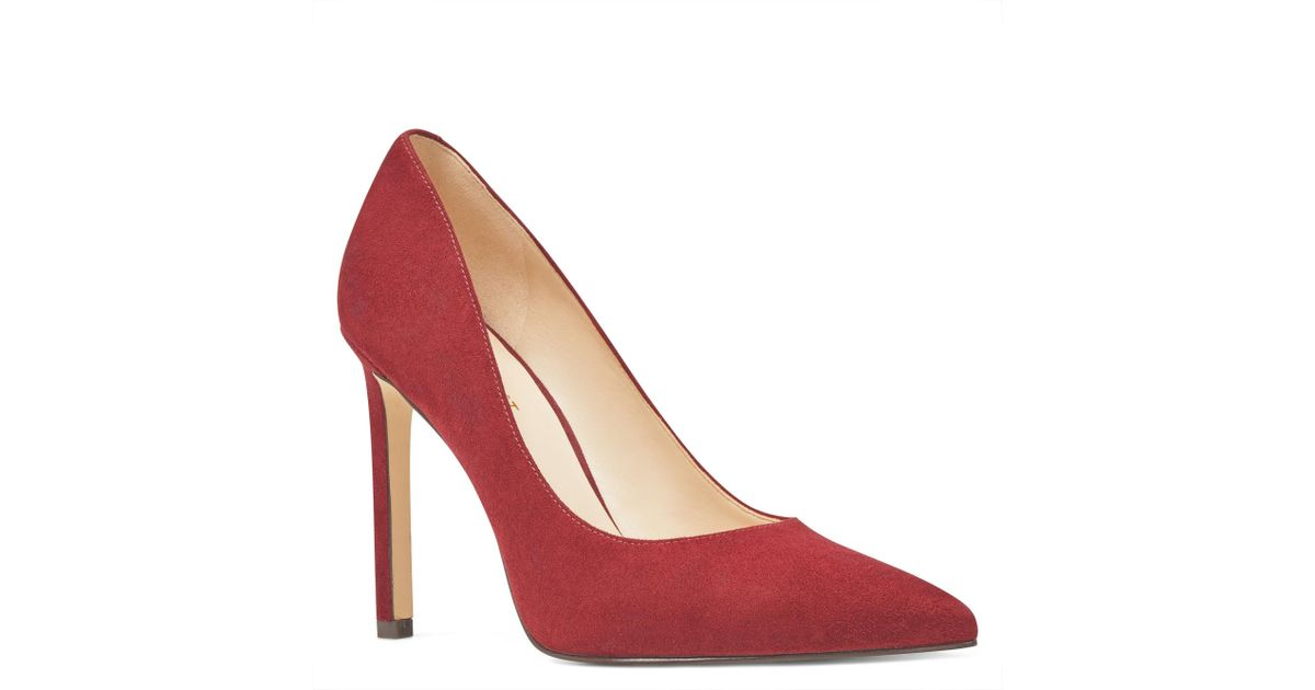 5351ce417fe Lyst - Nine West Tatiana Pointy Toe Pumps in Red