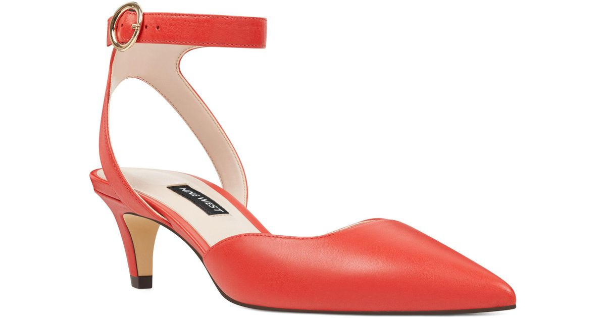 108df7d46750 Lyst - Nine West Quinteena Ankle Strap Pumps in Red