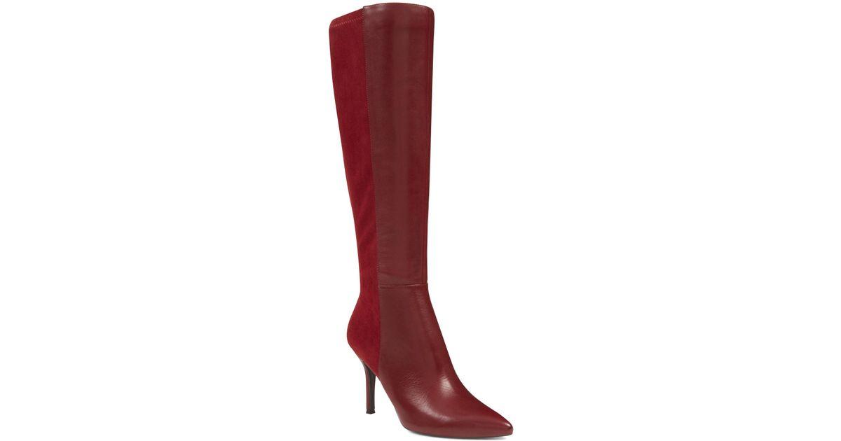 d74cb88e8e2e Lyst - Nine West Fallon Wide Calf Dress Boots in Red