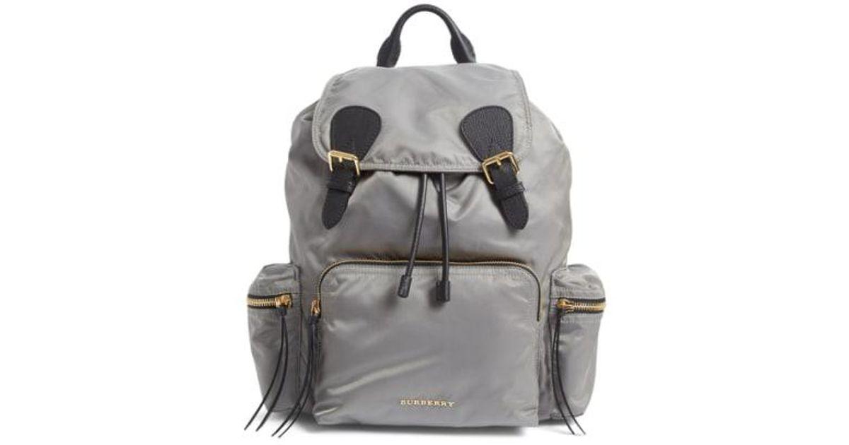 df61c984a3 Burberry 'medium Runway Rucksack' Nylon Backpack - Lyst