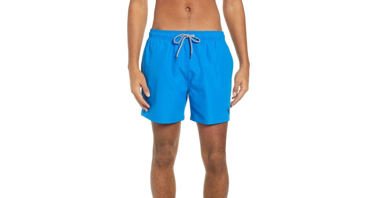 e40851fba1 Lyst - Ted Baker Plankton Slim Fit Swim Trunks in Blue for Men
