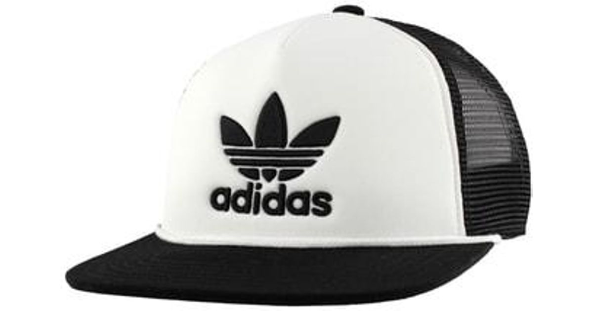 05db303f4c3 Lyst - adidas Originals Trefoil Trucker Hat - in Black for Men