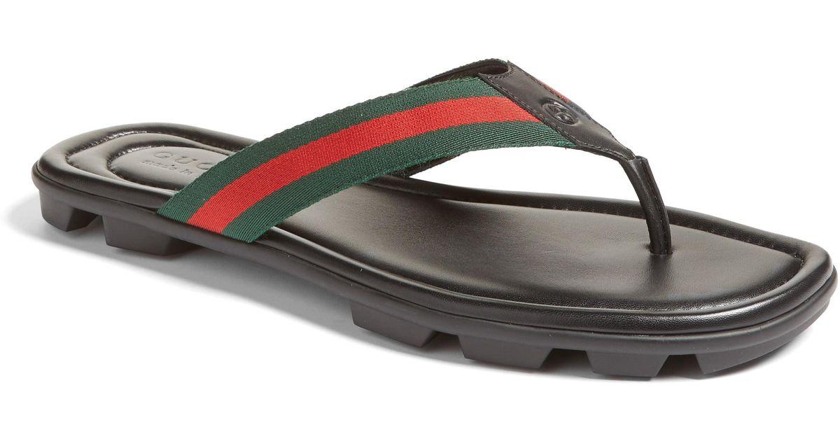 15f9e0c0df7 Lyst - Gucci Titan Flip Flop for Men - Save 5%