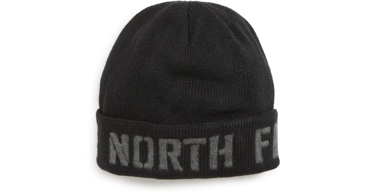 a43bd3d2 Lyst - The North Face Felted Logo Beanie in Black for Men