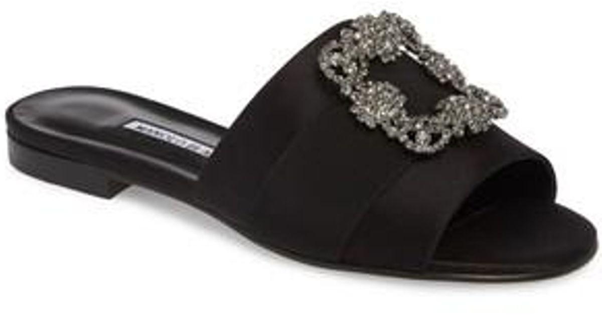 Manolo Blahnik Women's Martamod Crystal Embellished Slide Sandal ul1eb5Iy