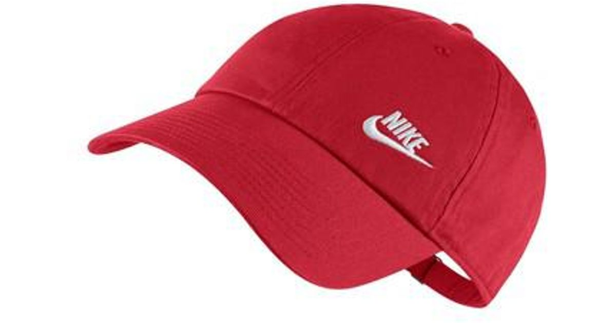 8ad0bf503d6 ... reduced lyst nike womens h86 swoosh hat in red 605df 64859