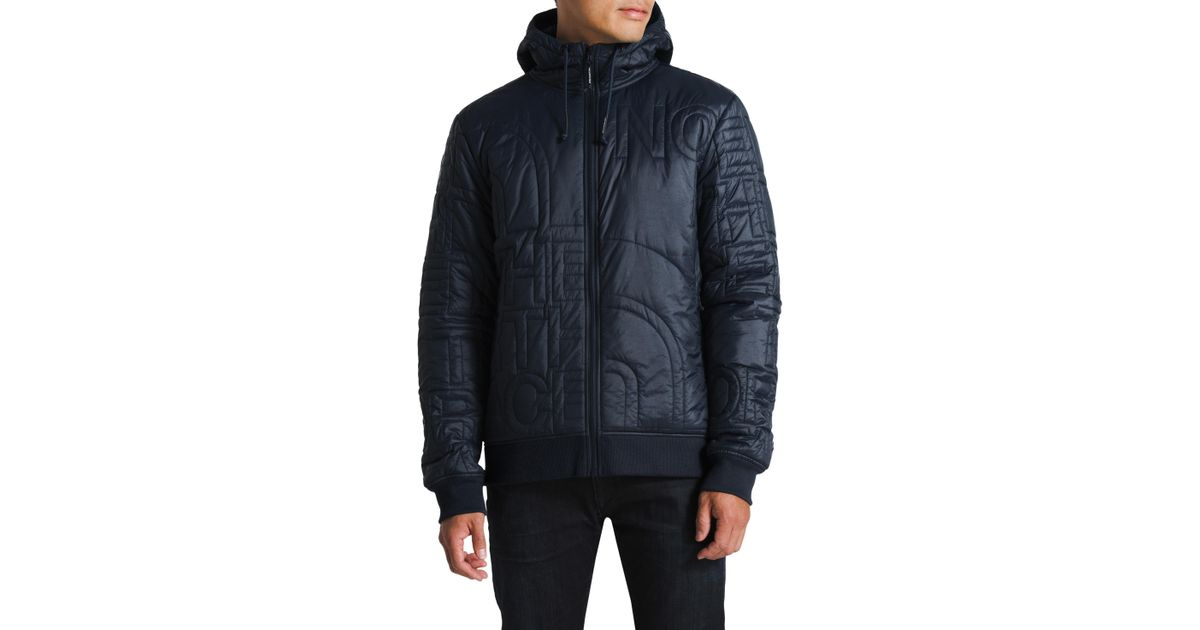 Lyst - The North Face Alphabet City Quilted Jacket in Blue for Men 537738bc3