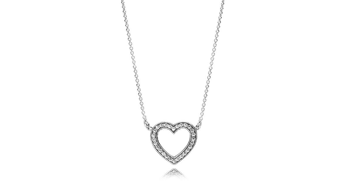 a246c0380980d Pandora - Metallic Loving Hearts Of Necklace - Lyst