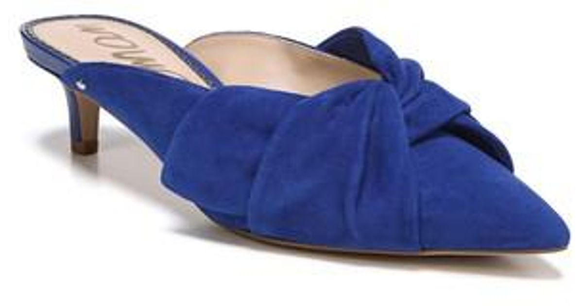 c54d37ac170 Lyst - Sam Edelman Laney Pointy Toe Mule in Blue