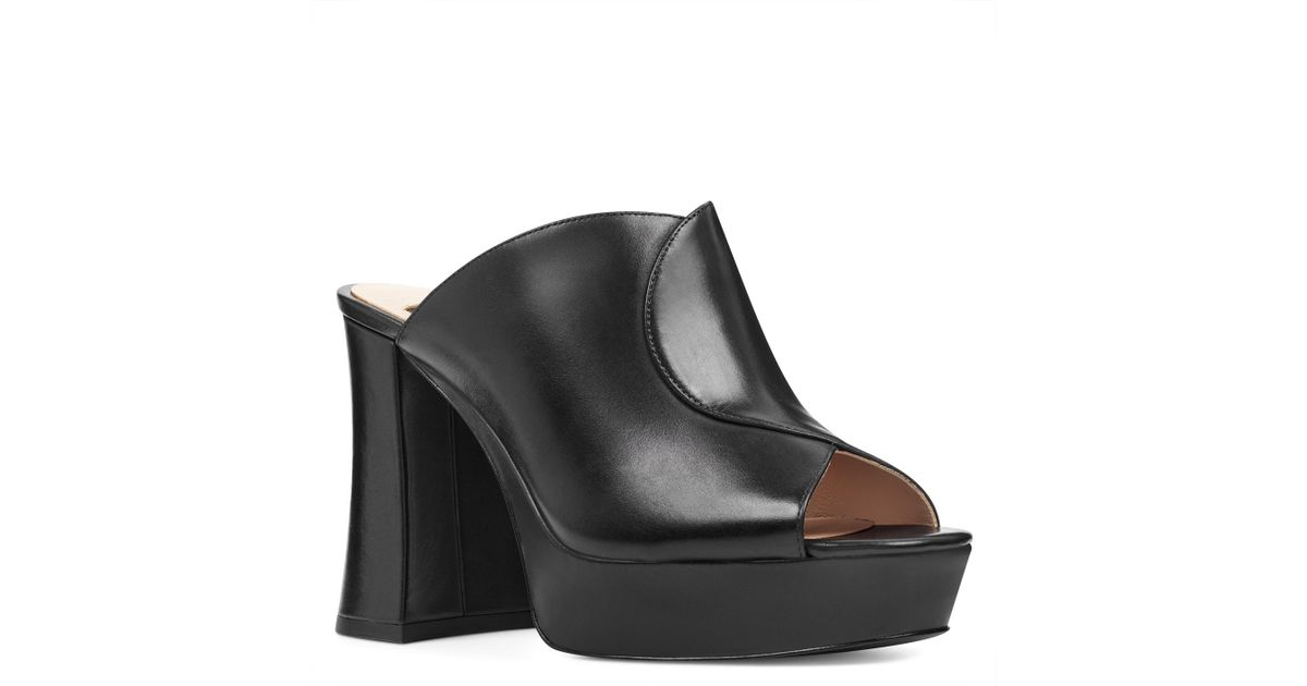 d9a1f755b506 Lyst - Nine West Lisana 40th Anniversary Platform Slide Heel in Black