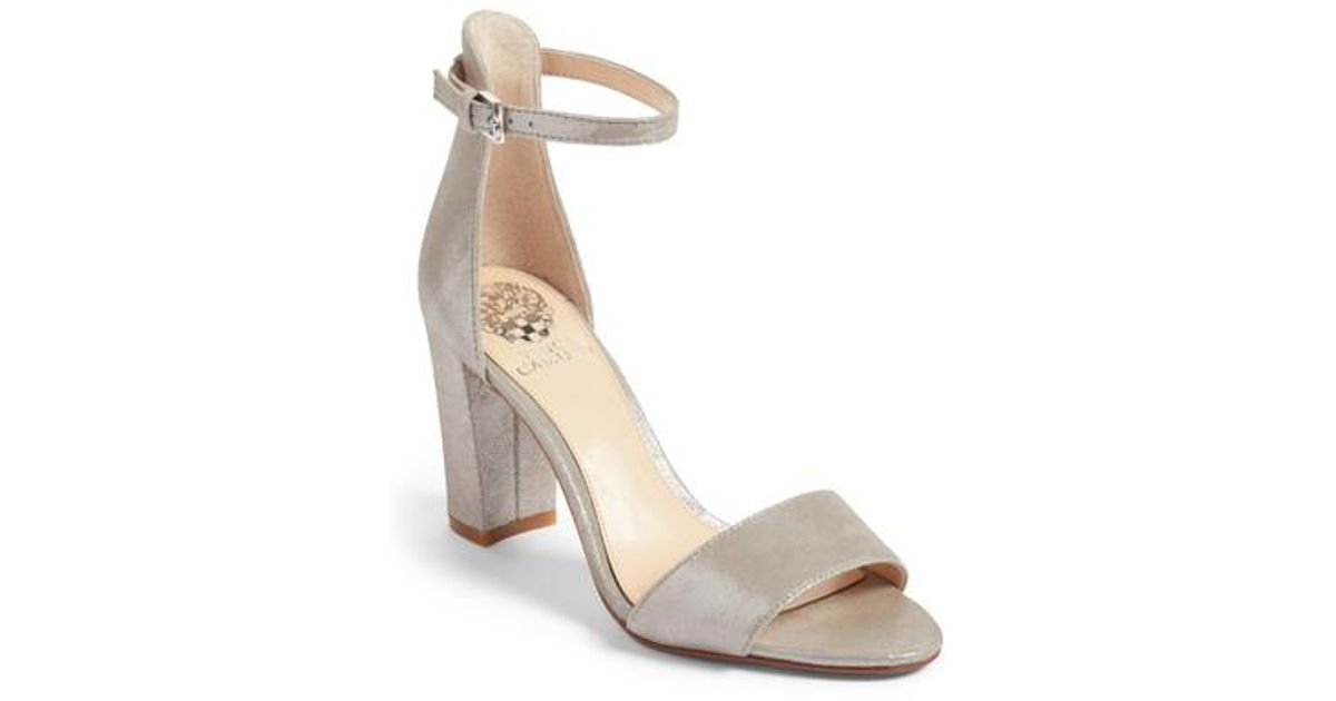 Vince Camuto Corlina Ankle Strap Sandal In Natural Lyst