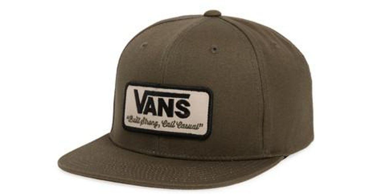 f34f8922 Vans - Black 'rowley' Snapback Hat for Men - Lyst