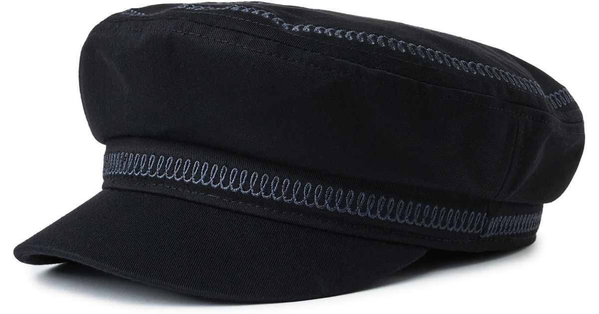 premium selection e5dff a96b8 Brixton Embroidered Snake Fiddler Cap in Black - Lyst