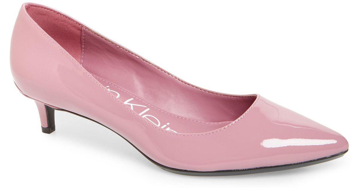 0b5f8a75397 Lyst - Calvin Klein Gabrianna Pump in Pink