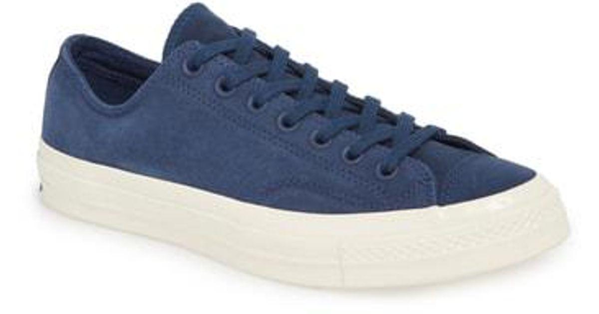 68f163dc0ac47d Lyst - Converse Chuck 70 Nubuck Low Top Sneaker in Blue for Men