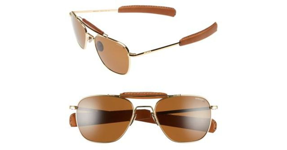 29d17687991 Lyst - Randolph Engineering  aviator Ii  Polarized 55mm Sunglasses - 23k  Gold  Tan in Metallic for Men