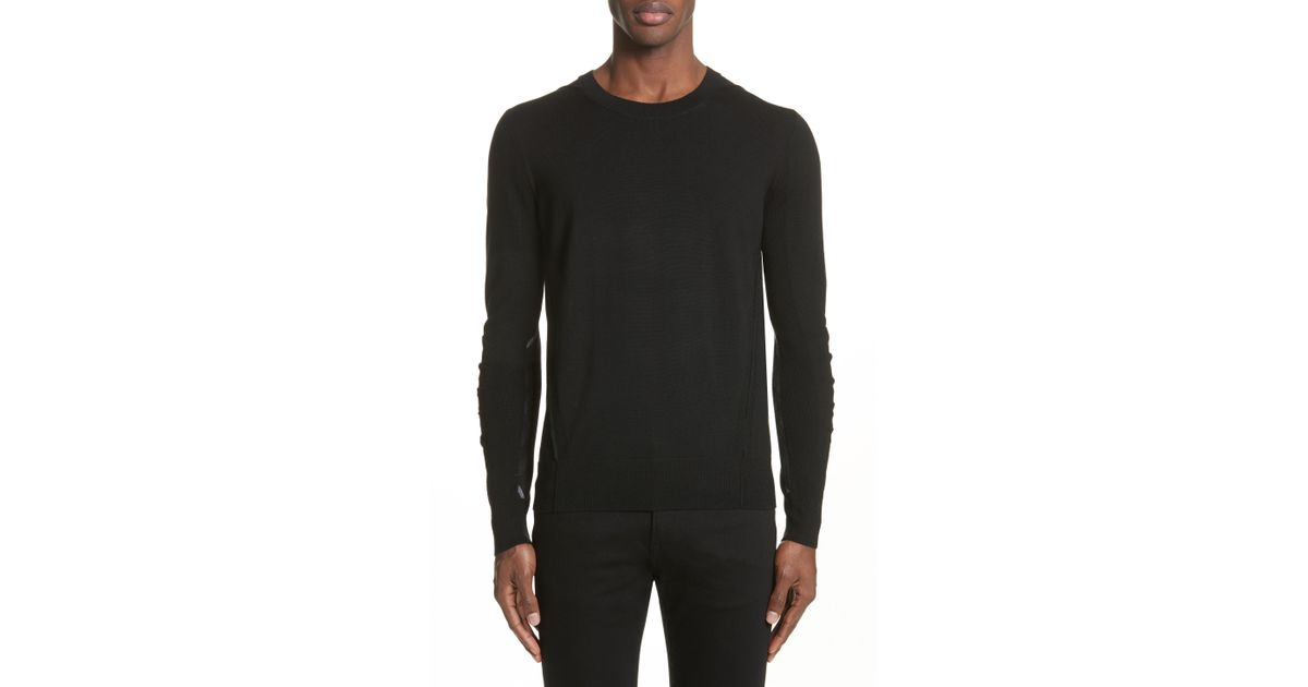 1c4ca64df Lyst - Burberry Carter Merino Wool Crewneck Sweater in Black for Men