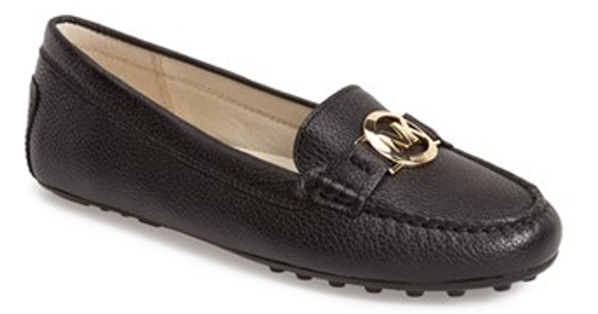 c35fd11d11bb7 Lyst - MICHAEL Michael Kors Molly Leather Loafers in Black