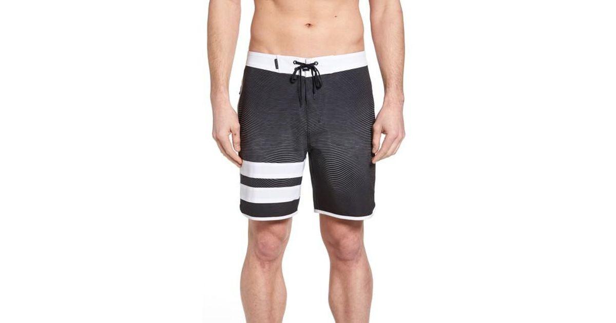 Lyst - Hurley Phantom Static Block Party Board Shorts in Black for Men f111ad65303