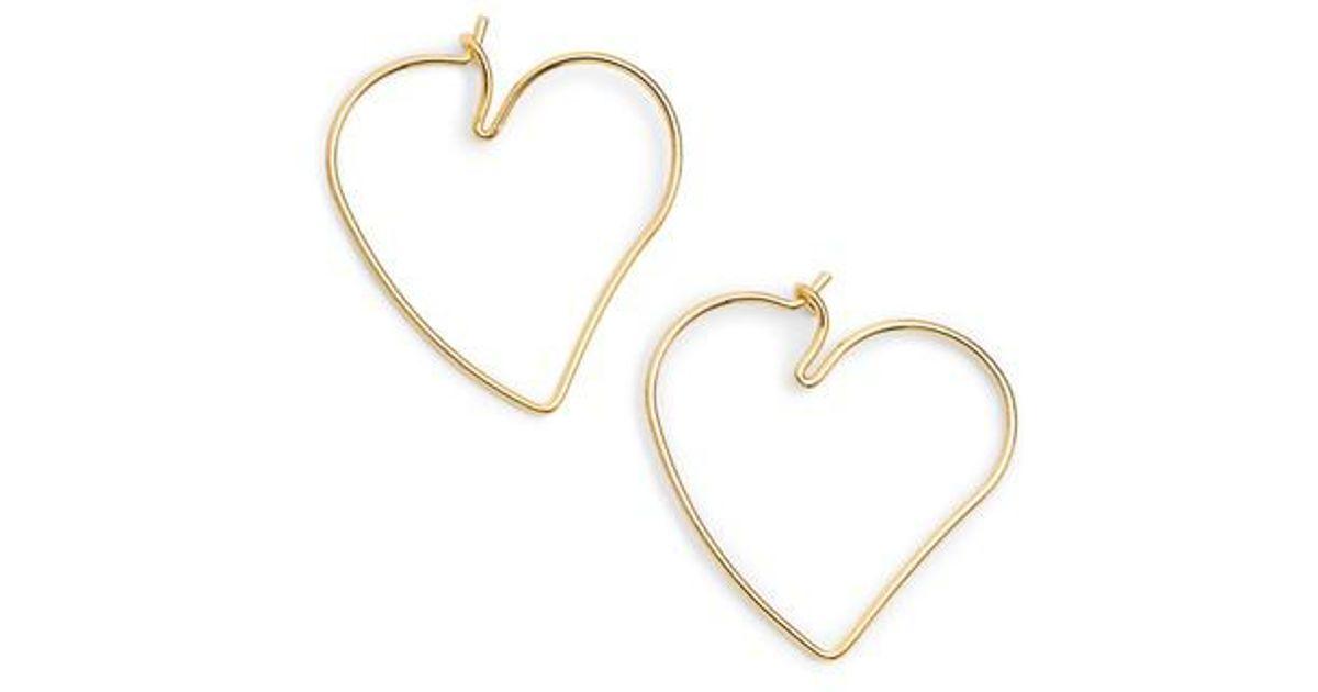 b9bb5c4a5 Lyst - Rebecca Minkoff Lover Hoop Earrings in Metallic