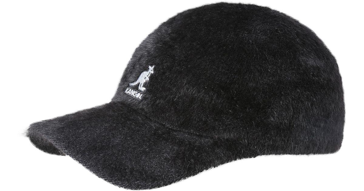 Lyst - Kangol Angora Blend Baseball Cap - in Black 693d480b675