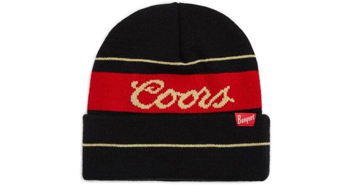 b3ea1fe09ea Lyst - Brixton Coors Banquet Signature Knit Cap in Black for Men