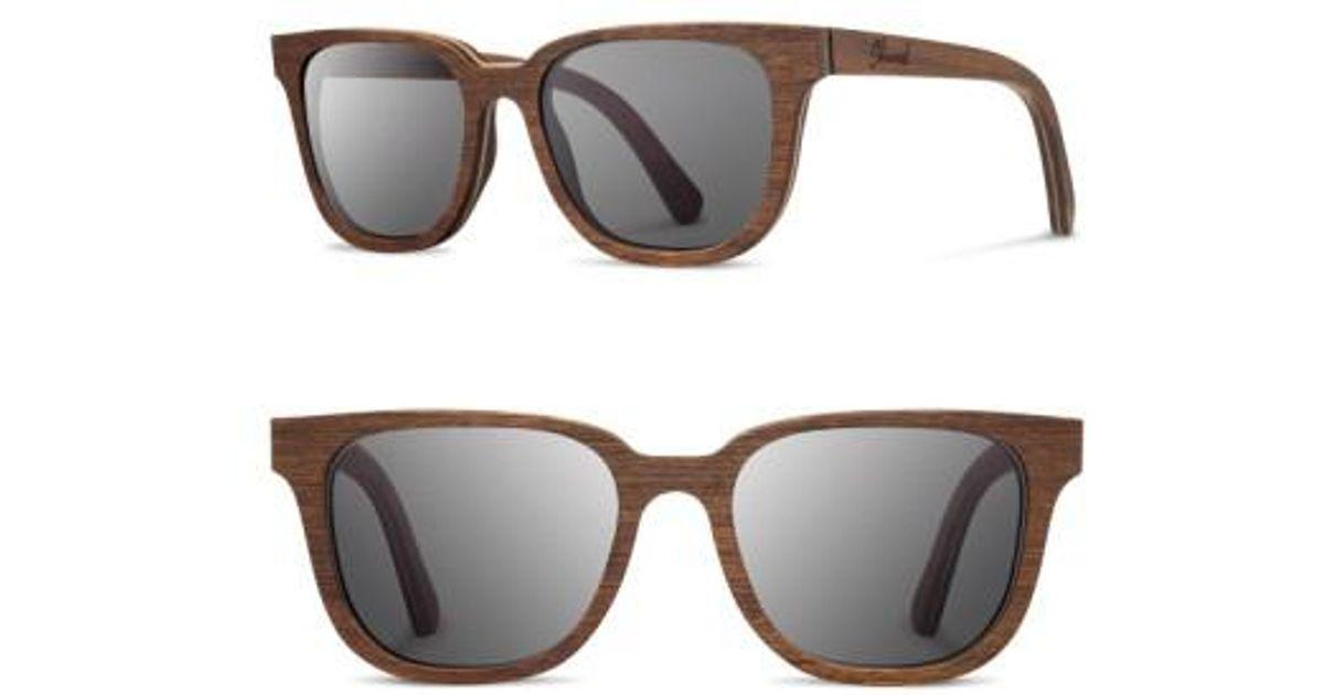 949b9ef140 Lyst - Shwood  prescott  52mm Wood Sunglasses - Walnut  Grey in Brown