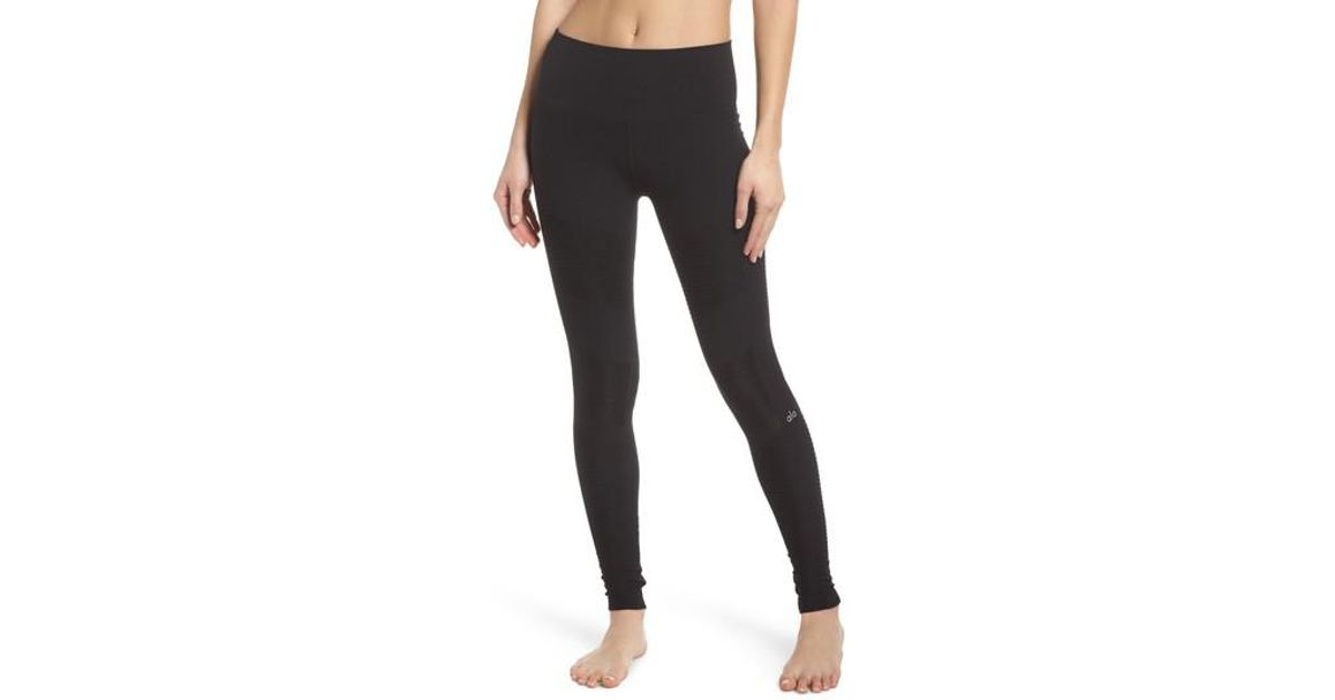 2ff54b1237 Alo Yoga High Waist Seamless Moto Leggings in Black - Lyst