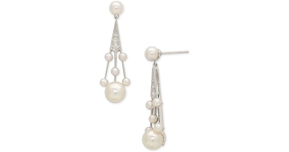 6c7944d9f Mikimoto 'legacy Collection' Akoya Cultured Pearl & Diamond Earrings - Lyst